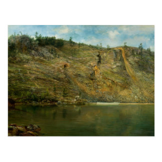 Homer Dodge Martin - The Iron Mine, Port Henry Postcard