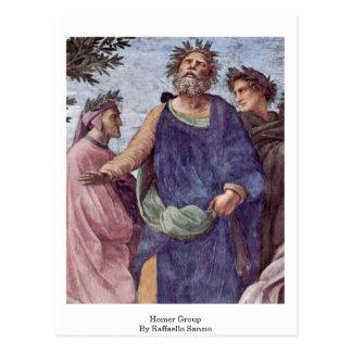 Homer Group By Raffaello Sanzio Postcard