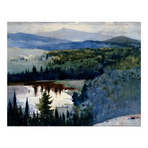 Homer - Indian Village, Adirondacks Poster