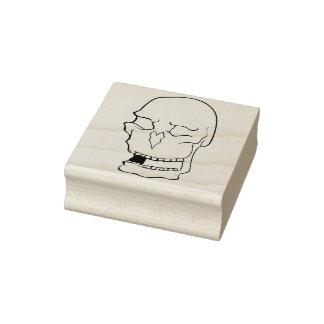 Homer Simpson skull illustration art stamp
