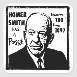 Homer Smith Square Sticker