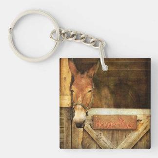 Homer the Mule key chain