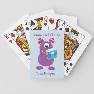 Homeschool Champ Purple Monster Playing Cards