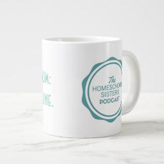 Homeschool mom: Just add caffeine Large Coffee Mug