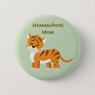 Homeschool Mom Tiger 6 Cm Round Badge