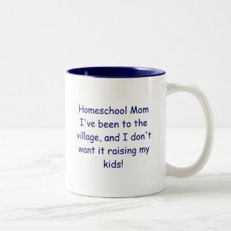 Homeschool Mom Two-Tone Coffee Mug