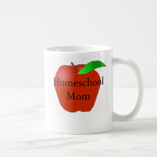Homeschool Mom with Apple Coffee Mug