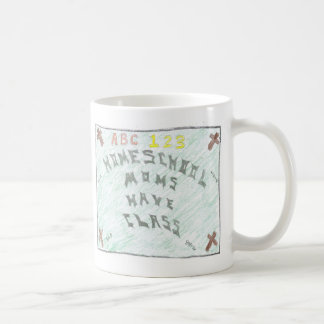 Homeschool moms have class small coffee cup