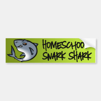 Homeschool Snark Shark Bumper Sticker
