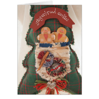Homespun Holiday Card with Gingerbread Theme