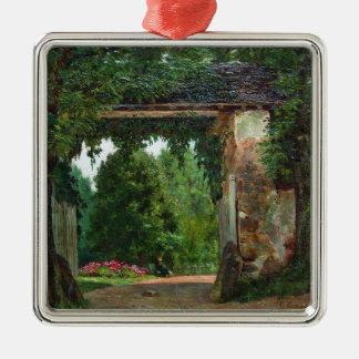 homestead (1) metal ornament