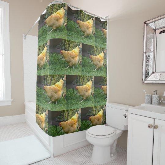 Homestead Chicken Shower Curtain