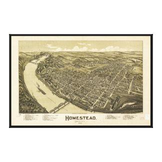 Homestead Pennsylvania (1902) Stretched Canvas Print