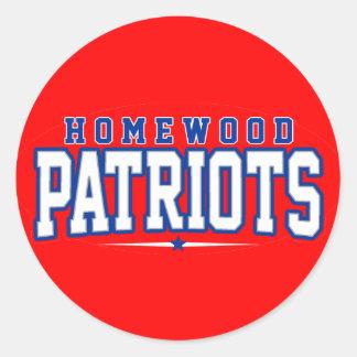 Homewood High School; Patriots Sticker