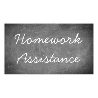 Homework Assistance Chalkboard Typography Pack Of Standard Business Cards