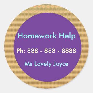 Homework Help - Business Support Products Round Sticker