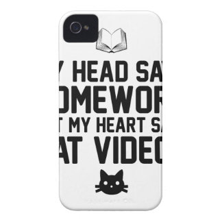 Homework or Cat Videos iPhone 4 Covers