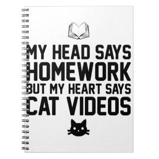 Homework or Cat Videos Notebook