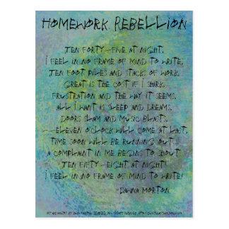 Homework Rebellion Postcard