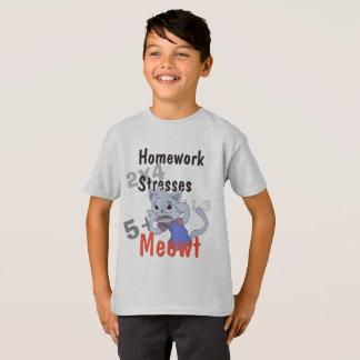 Homework Stresses Meowt T-Shirt