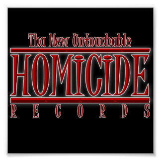 Homicide Records Poster