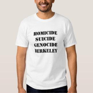 HOMICIDE SUICIDE GENOCIDE BERKELEY T-SHIRTS