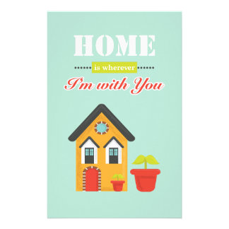homie is more wherever, i to with you customized stationery