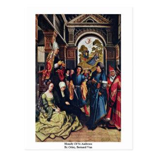 Homily Of St Ambrose By Orley, Bernard Van Postcard
