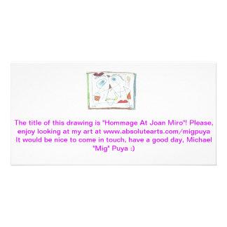 Hommage At Joan Miro Card