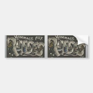 Hommage Aux Russes , Vintage Bumper Sticker