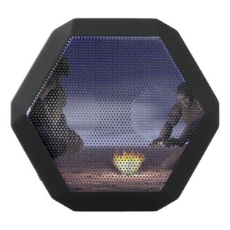 Homo erectus and fire - 3D render Black Bluetooth Speaker