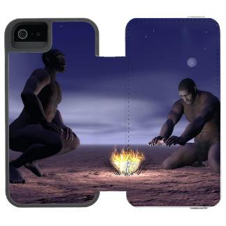 Homo erectus and fire - 3D render Incipio Watson™ iPhone 5 Wallet Case