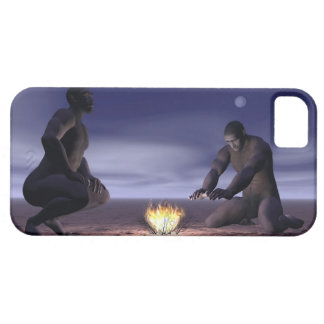Homo erectus and fire - 3D render iPhone 5 Cover