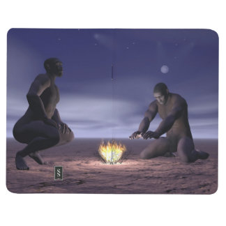 Homo erectus and fire - 3D render Journal