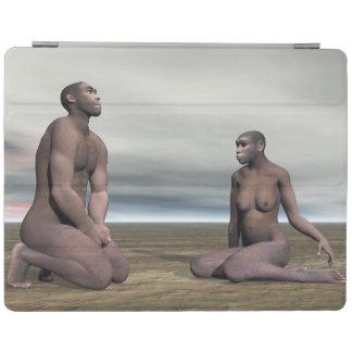 Homo erectus couple - 3D render iPad Cover