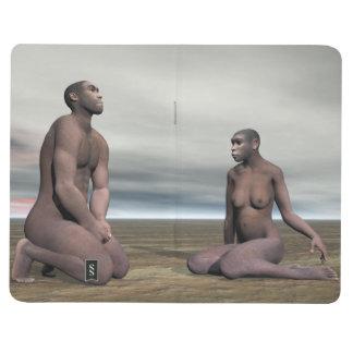 Homo erectus couple - 3D render Journal