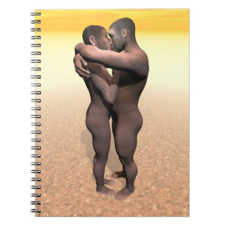 Homo erectus couple - 3D render Notebooks