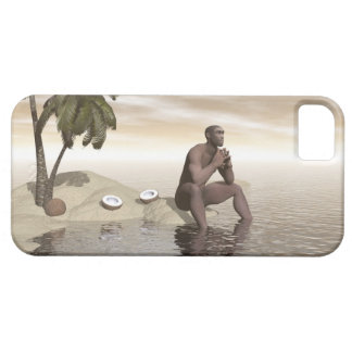 Homo erectus thinking alone - 3D render Barely There iPhone 5 Case