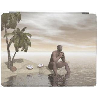 Homo erectus thinking alone - 3D render iPad Cover