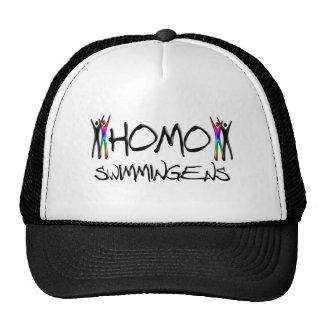 Homo swimming trucker hats