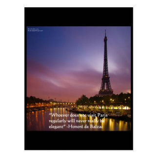 Hon de Balzac On Paris France Postcard