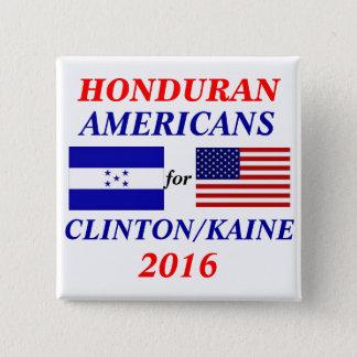 Honduran americans for Clinton/Kaine 15 Cm Square Badge