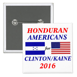 Honduran americans for Clinton/Kaine 15 Cm Square Badge