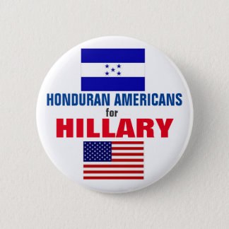 Honduran Americans for Hillary 2016 6 Cm Round Badge