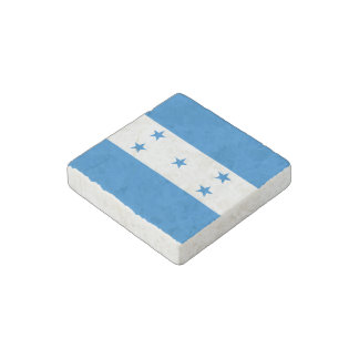 Honduran flag stone magnet