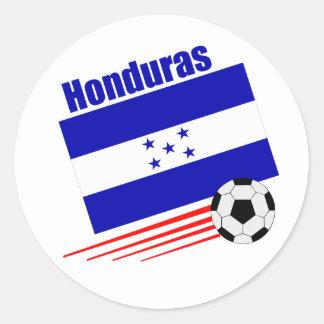 Honduran Soccer Team Classic Round Sticker