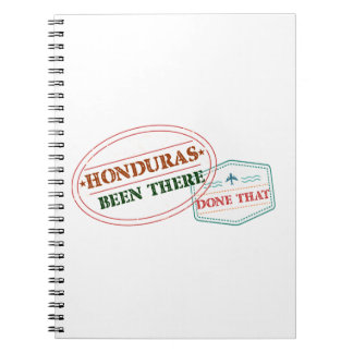 Honduras Been There Done That Notebook