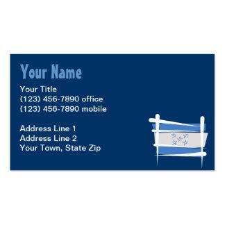 Honduras Brush Flag Business Card