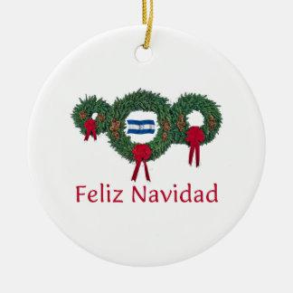 Honduras Christmas 2 Ceramic Ornament