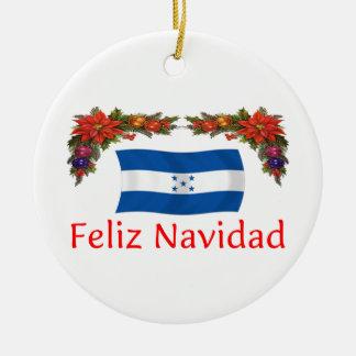 Honduras Christmas Round Ceramic Decoration